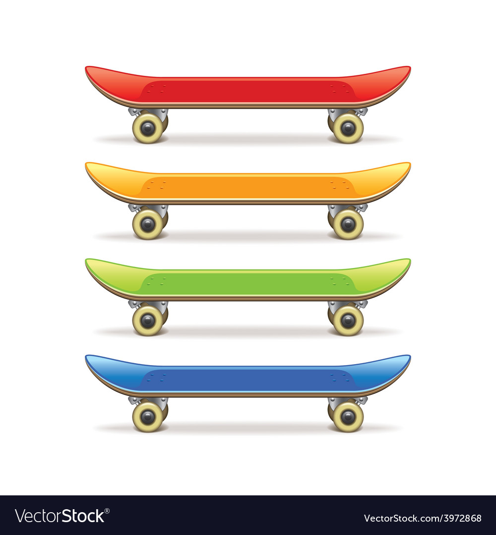 Skateboard set isolated vector