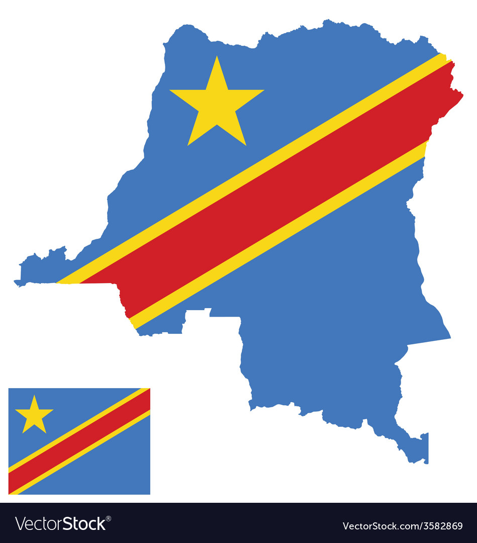 Democratic republic of the congo flag vector