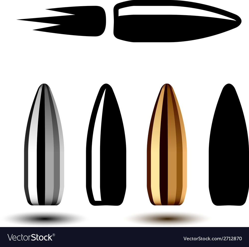 Drawing weapon gun bullets vector
