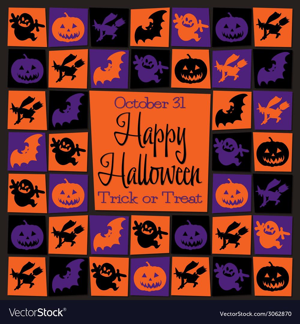 Halloween icons background vector