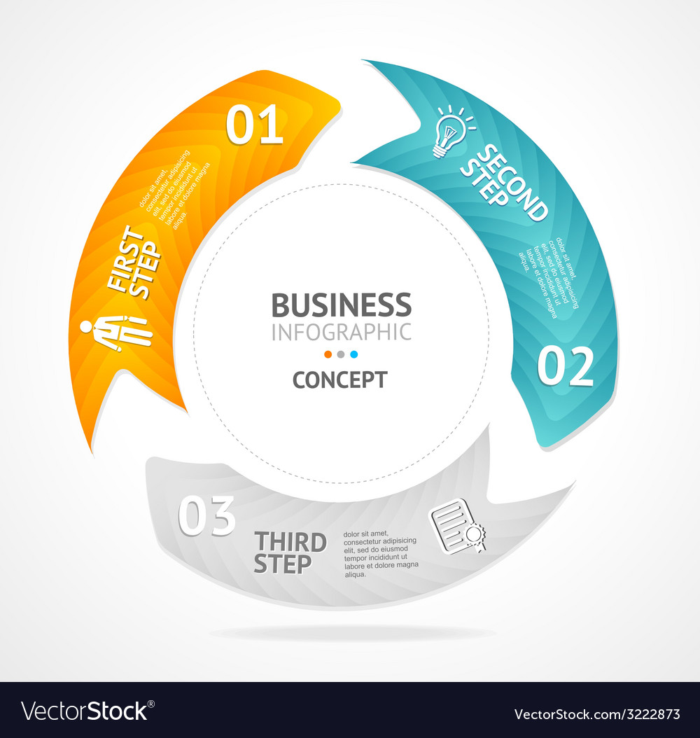 Infographics circle options banner 1 2 3 vector