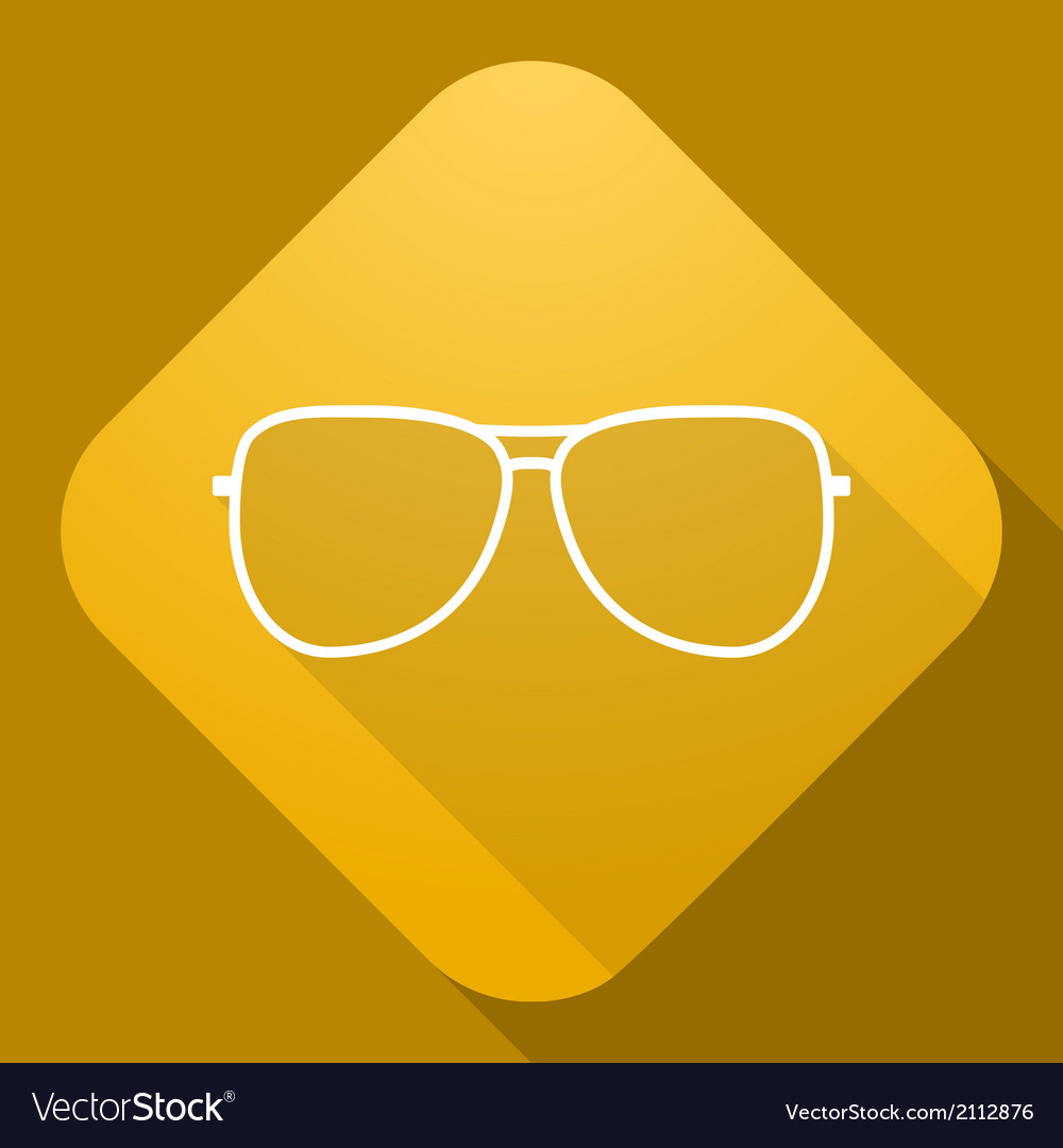 Icon of sunglasses with a long shadow vector