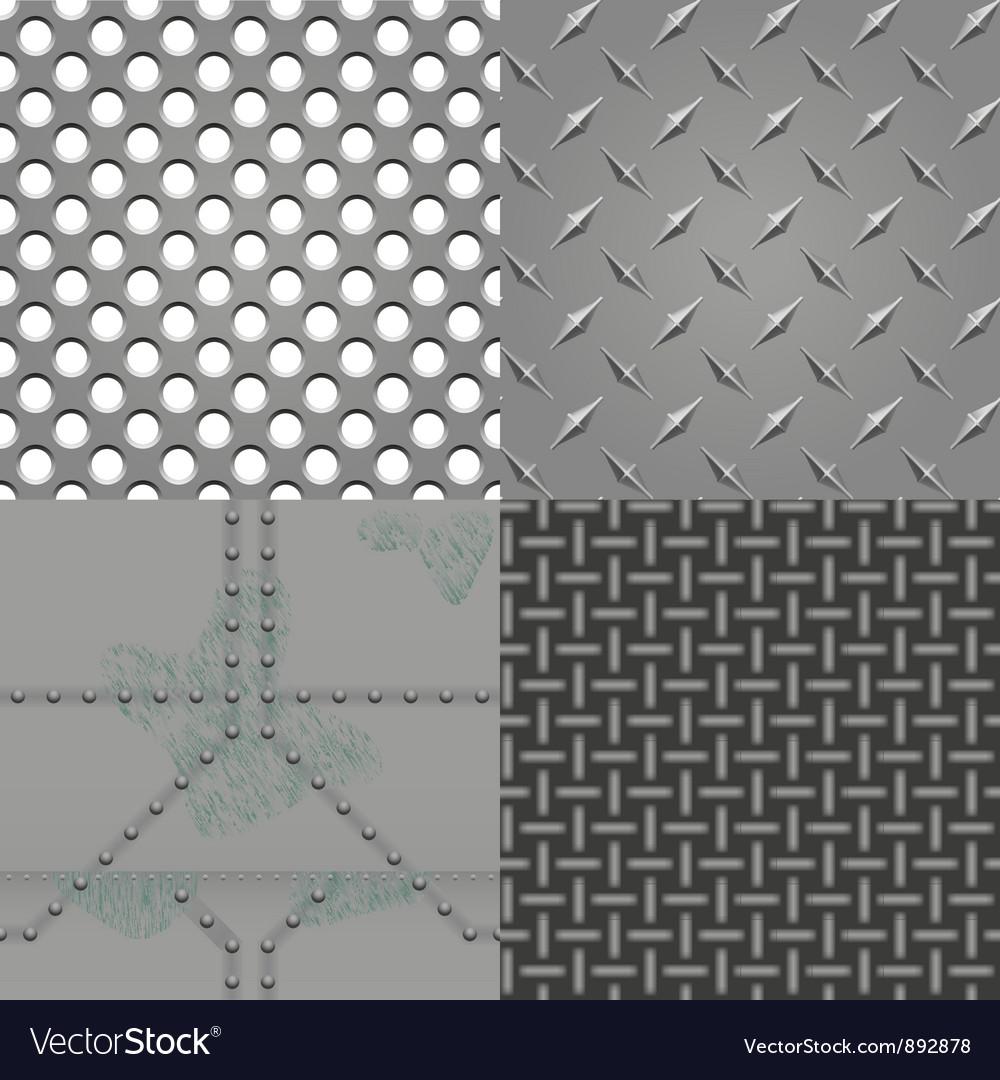 Set of metal textures vector