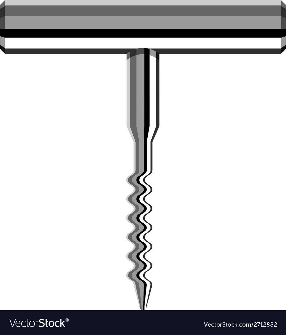 Chrome corkscrew vector