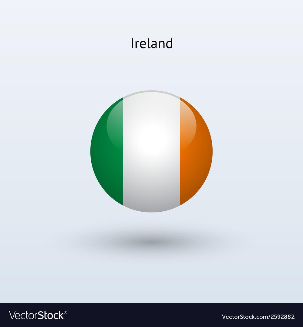 Ireland round flag vector