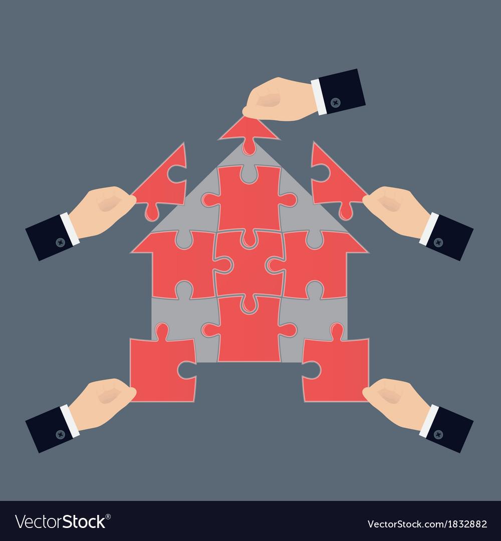 Team work concept vector