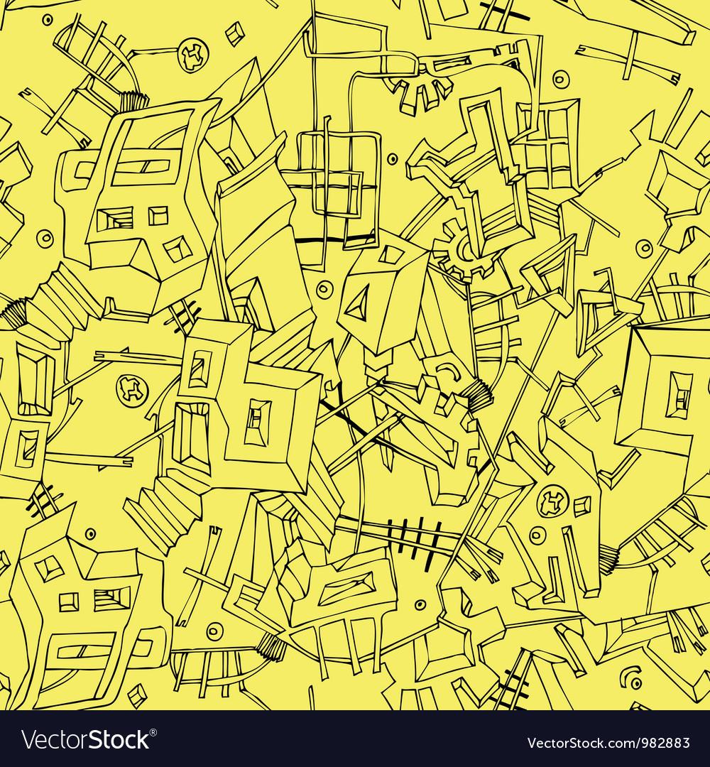 Abstract seamless texture of urban vector