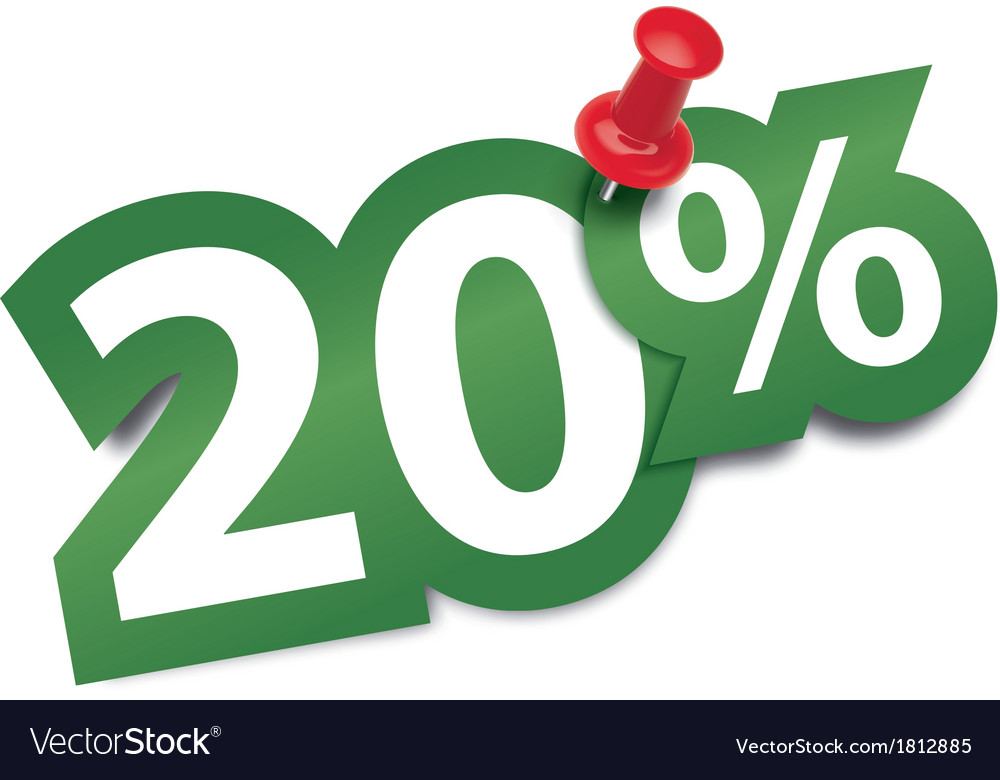 Twenty percent sticker vector