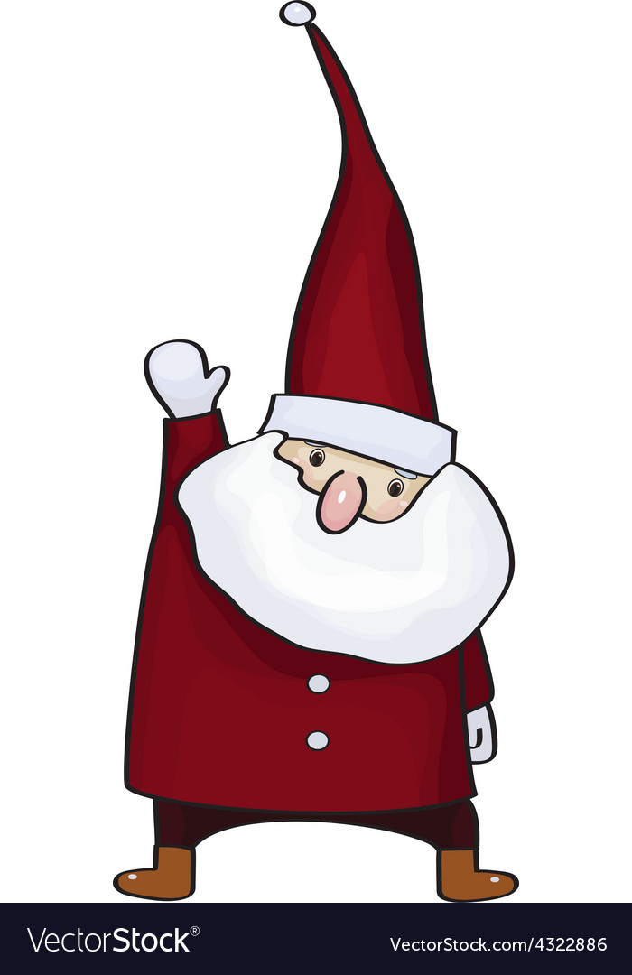 Santa red vector