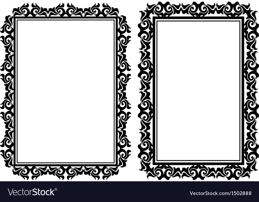 Rectangular frames vector