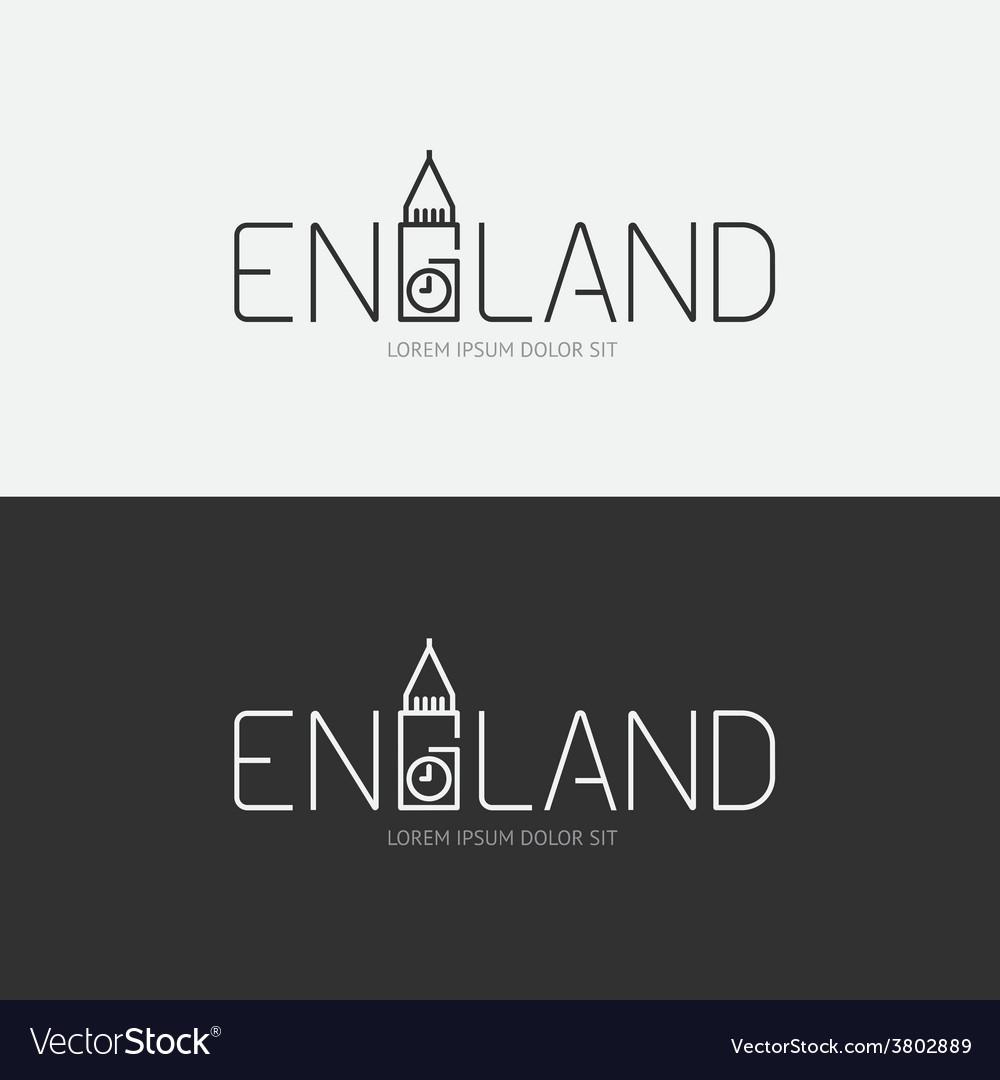 Alphabet england design concept with flat sign vector
