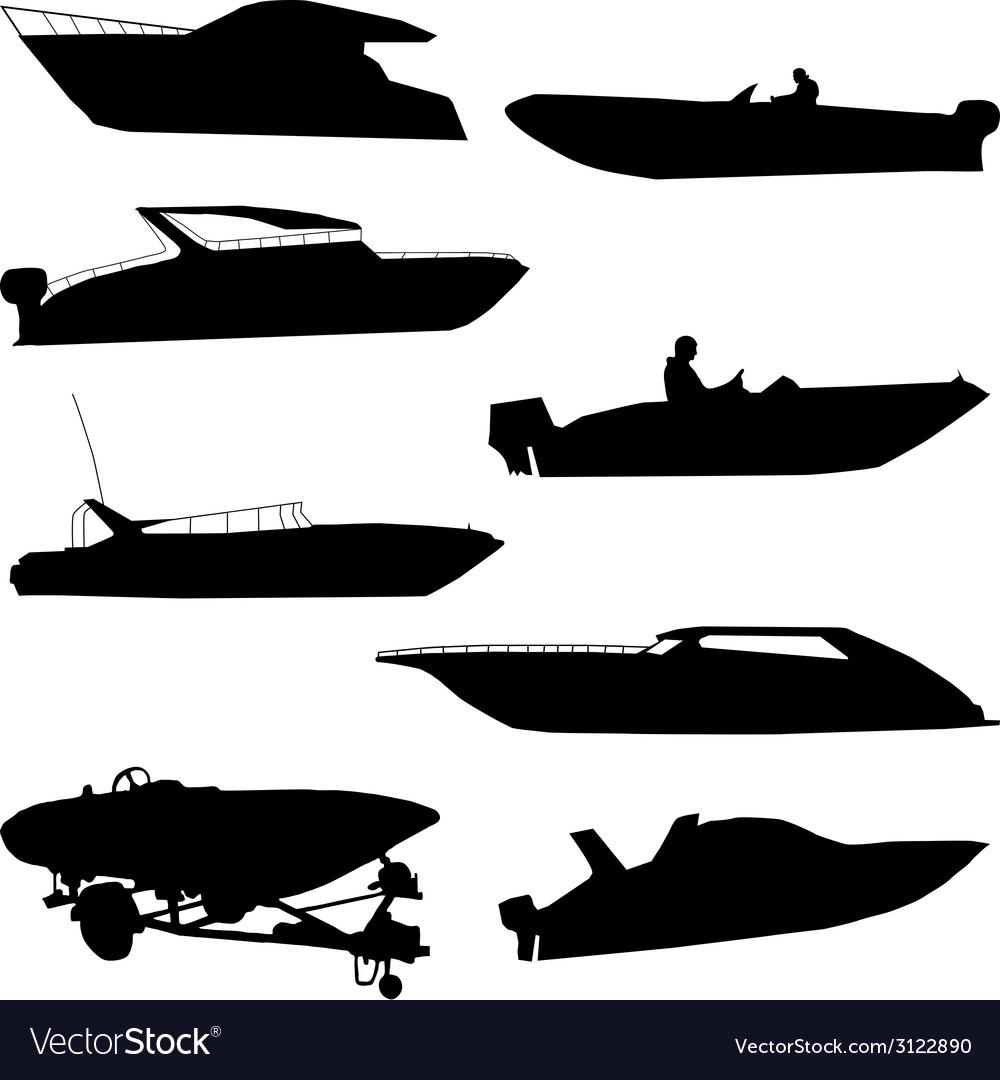 Various speedboats vector