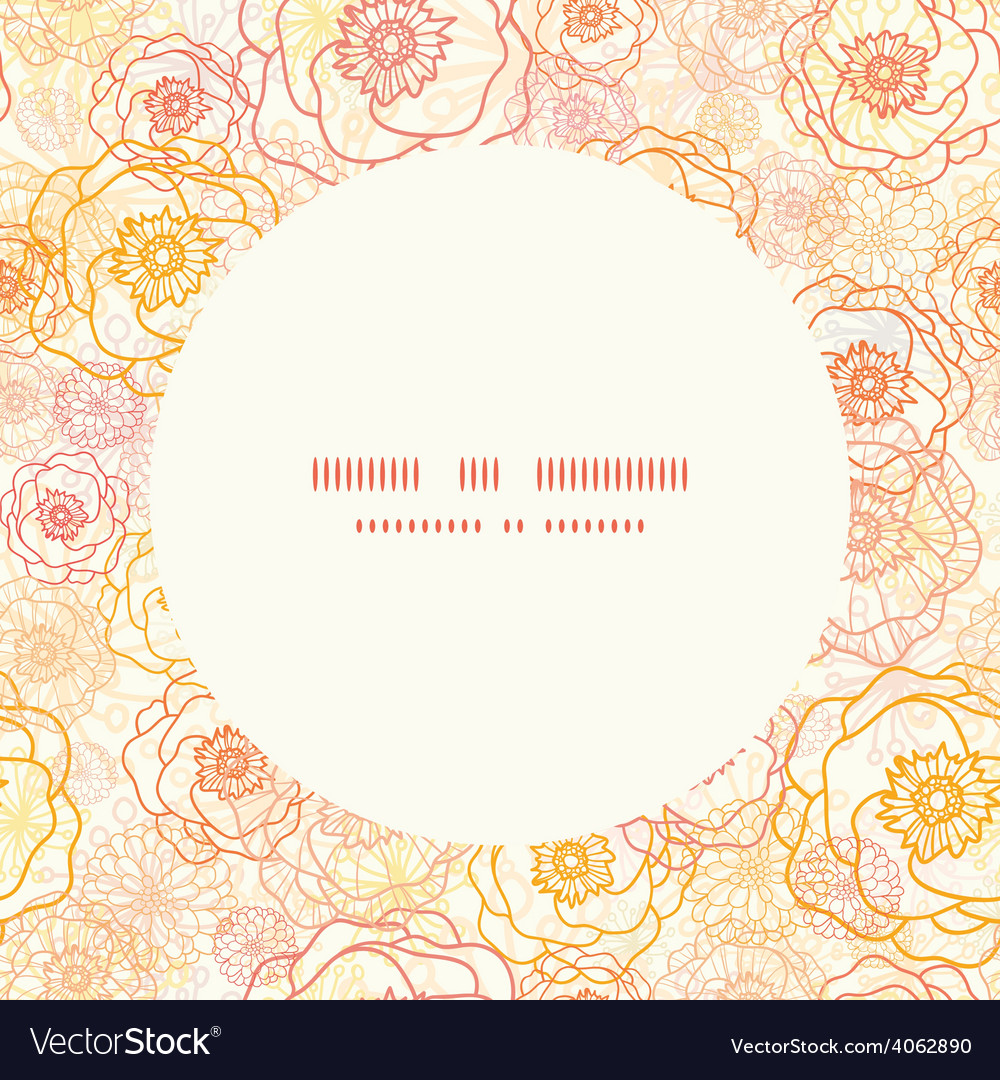 Warm flowers frame seamless pattern vector