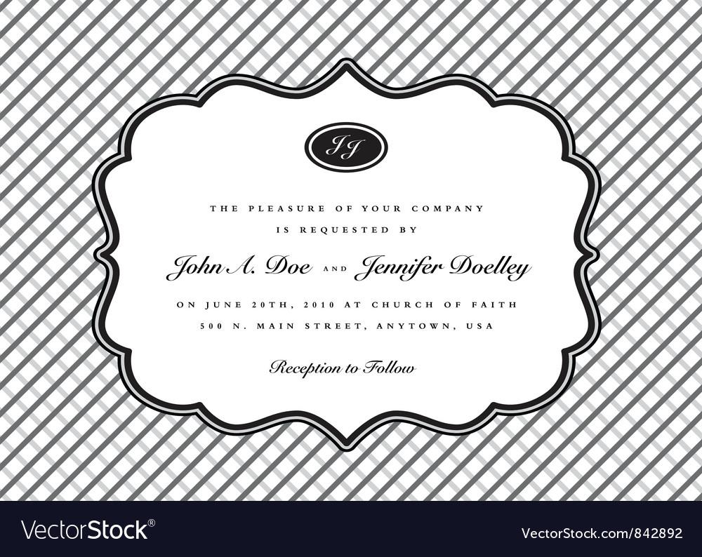 Invitation templates vector