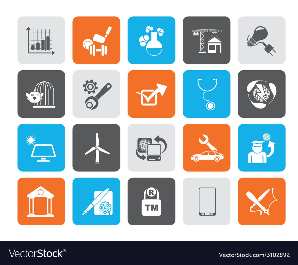 Silhouette internet and website portal icons vector