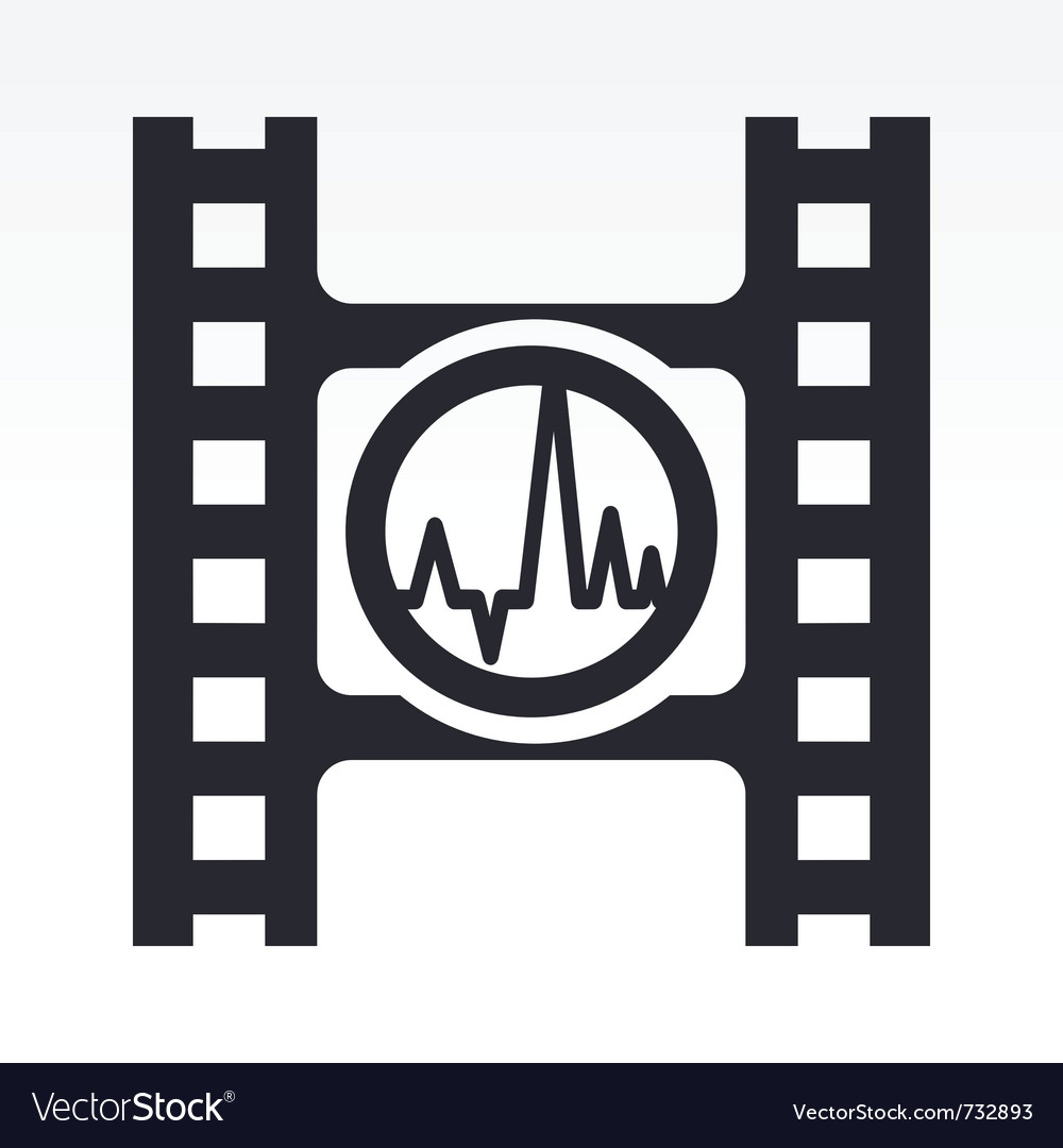 Wave audio icon vector