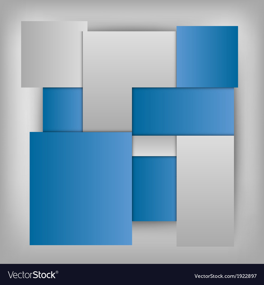 Business squares template blue vector