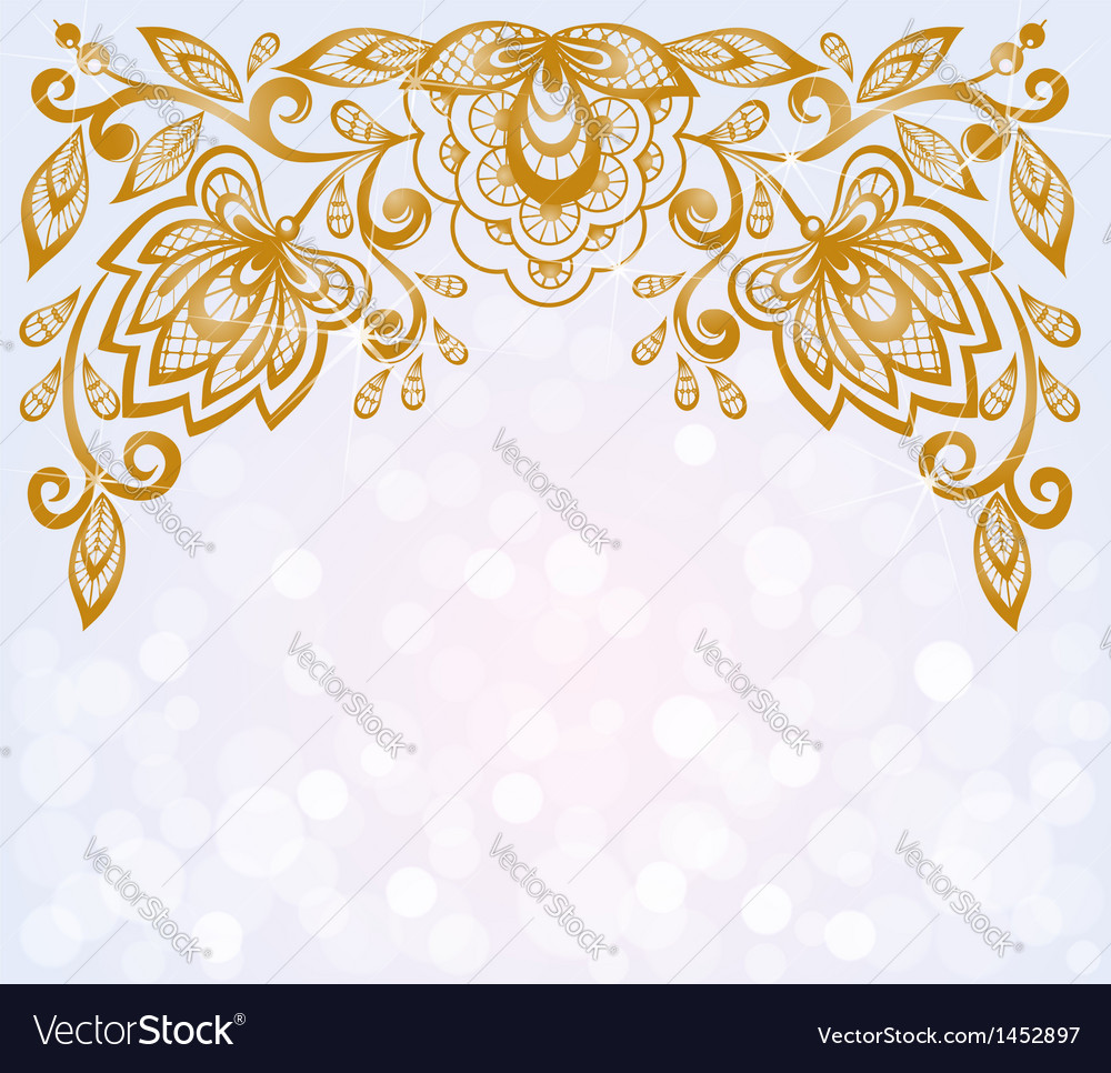Carved floral pattern vector