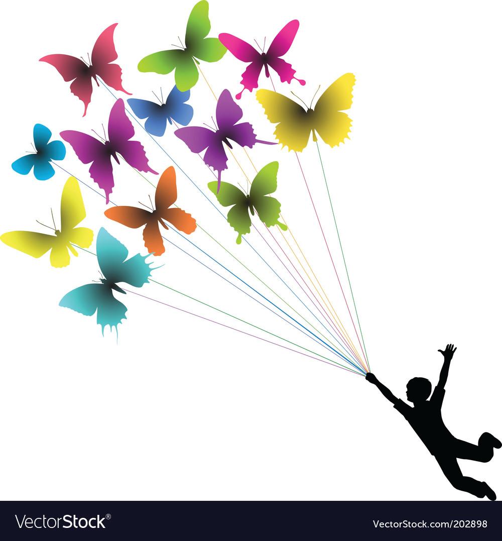 Butterfly boy vector
