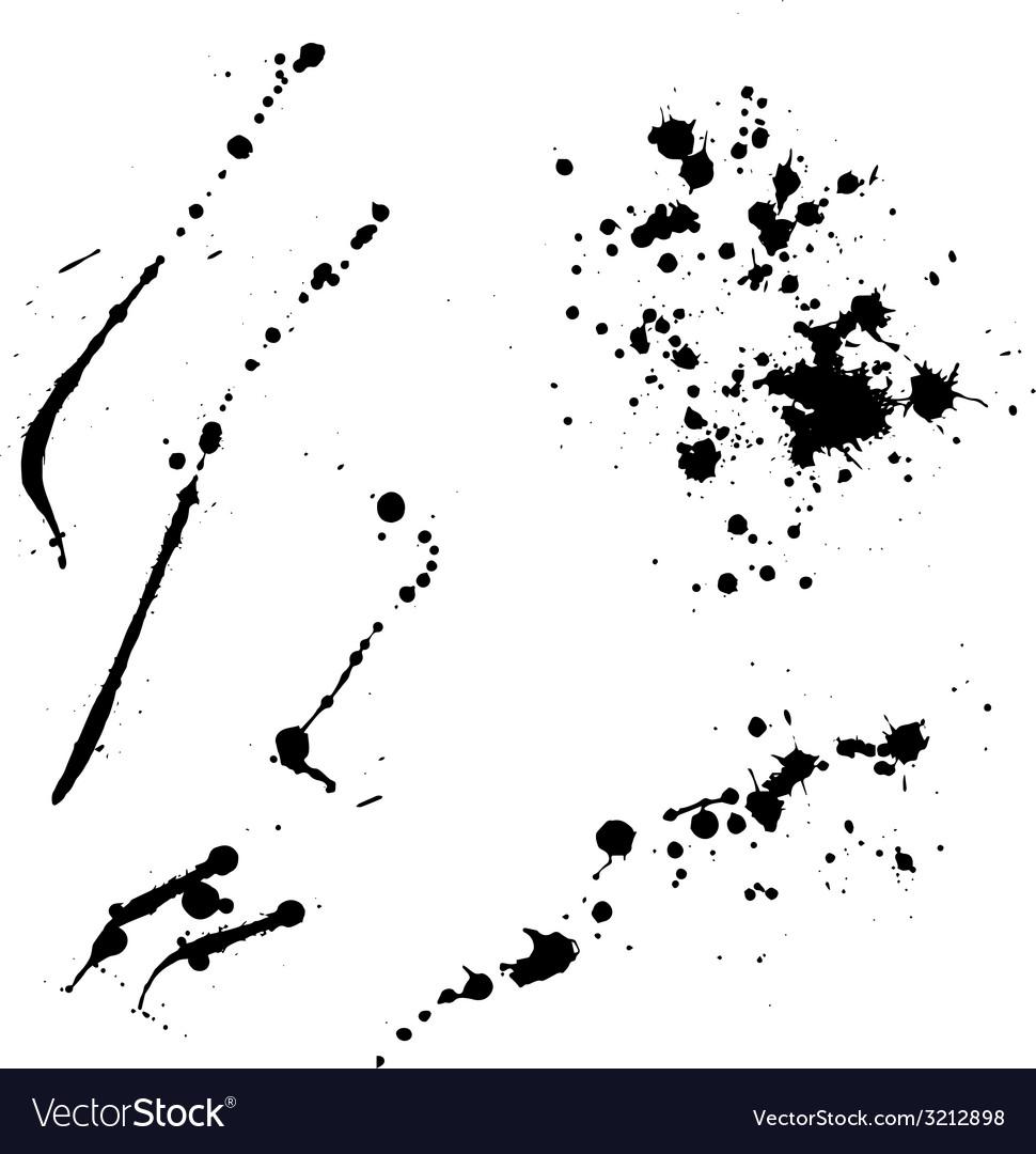 Ink blots lines vector