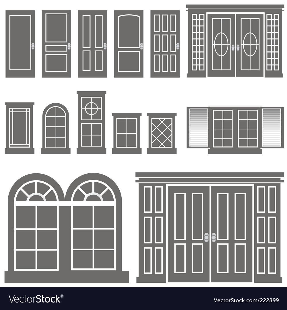Door and window vector