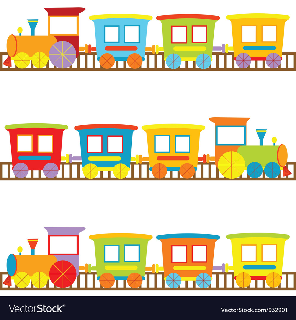 Cartoon trains vector