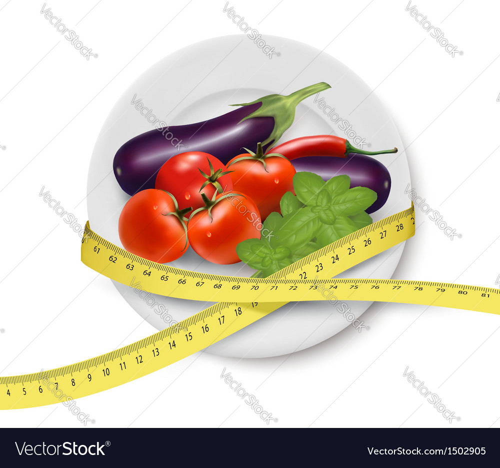 Diet meal vegetables vector