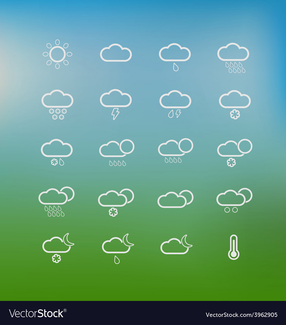 Weather icons 3 vector