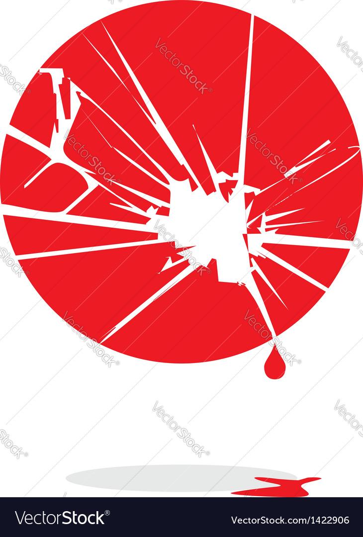 Japan bleeds vector