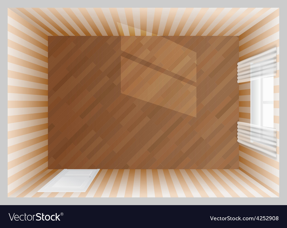 Empty room top view vector