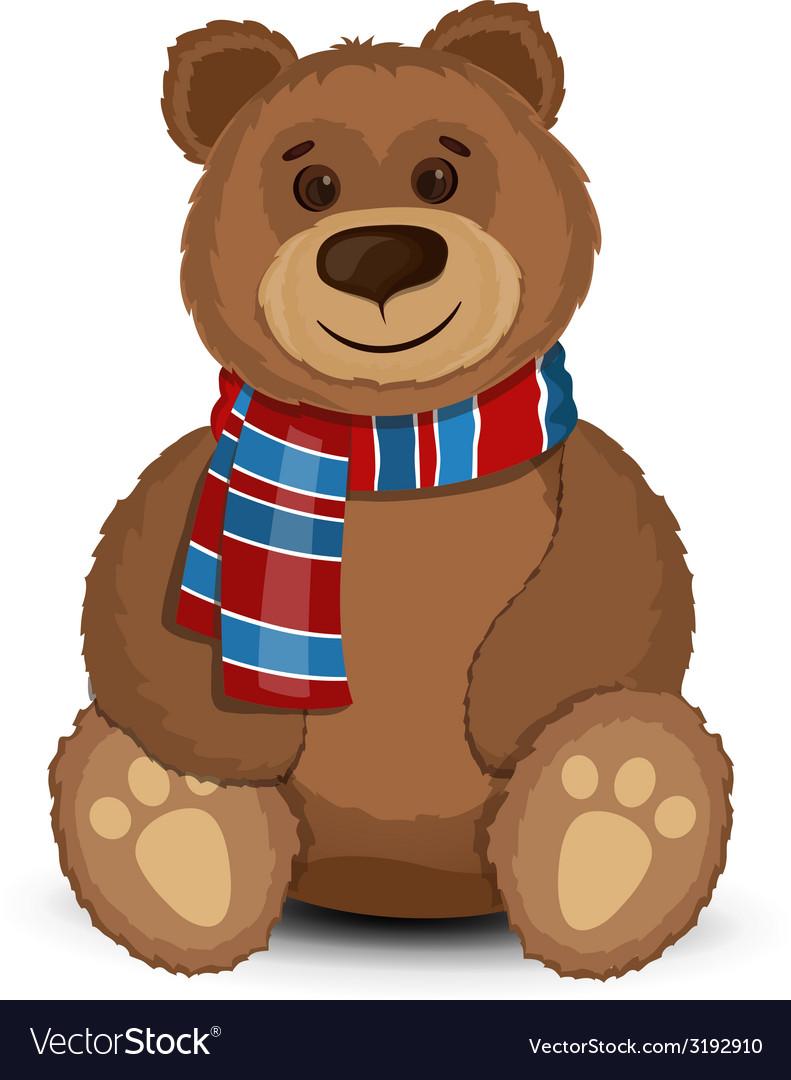 Bear isolated vector