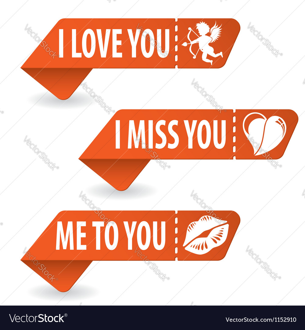 Collect valentines day signs vector