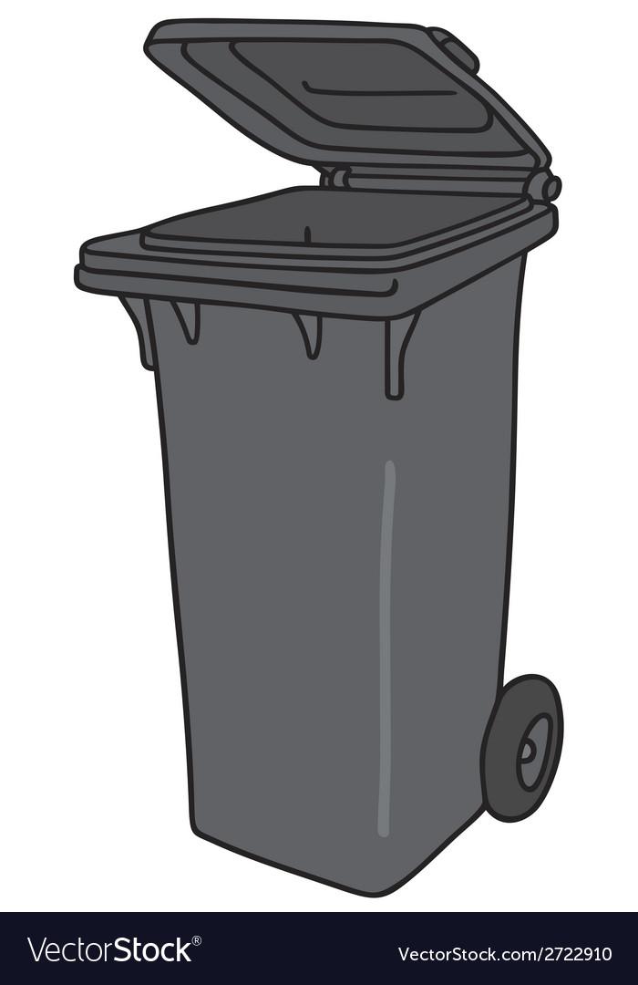 Plastic dustbin vector