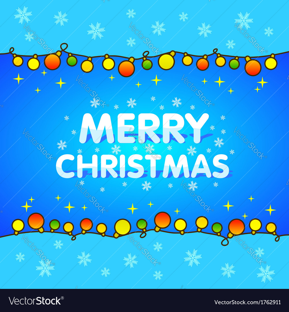 Christmas background blue garlands for xmas vector