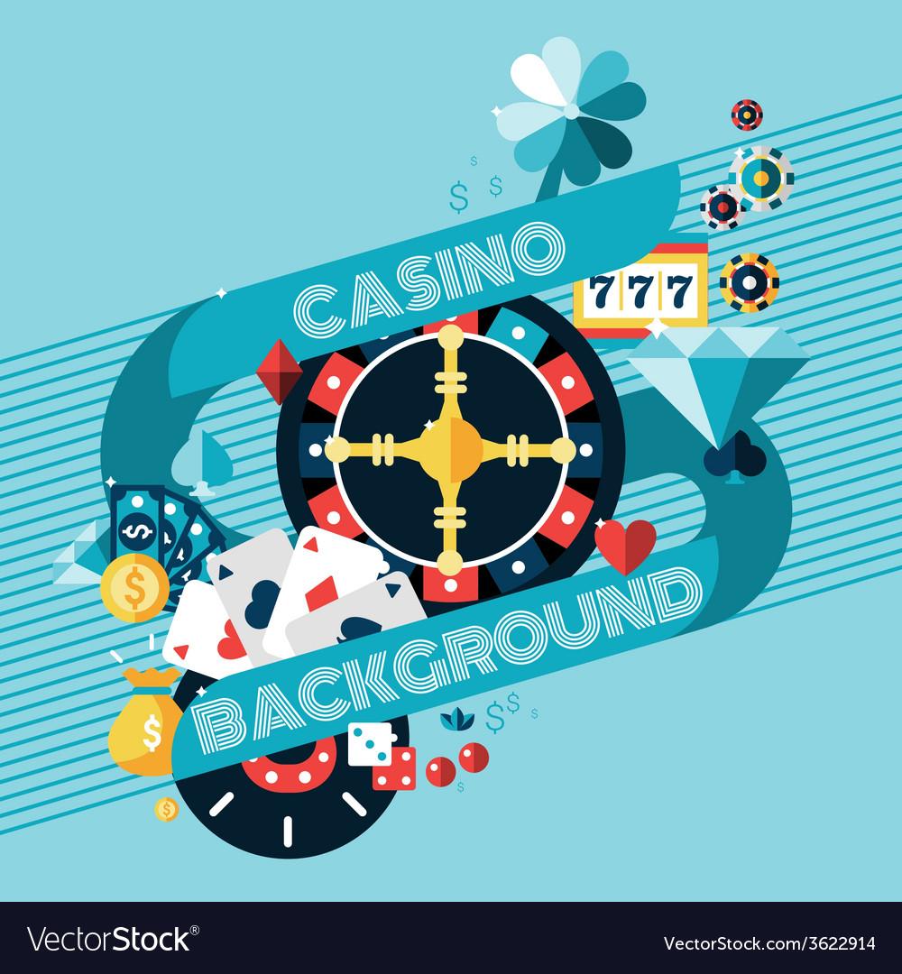 Casino gambling background vector