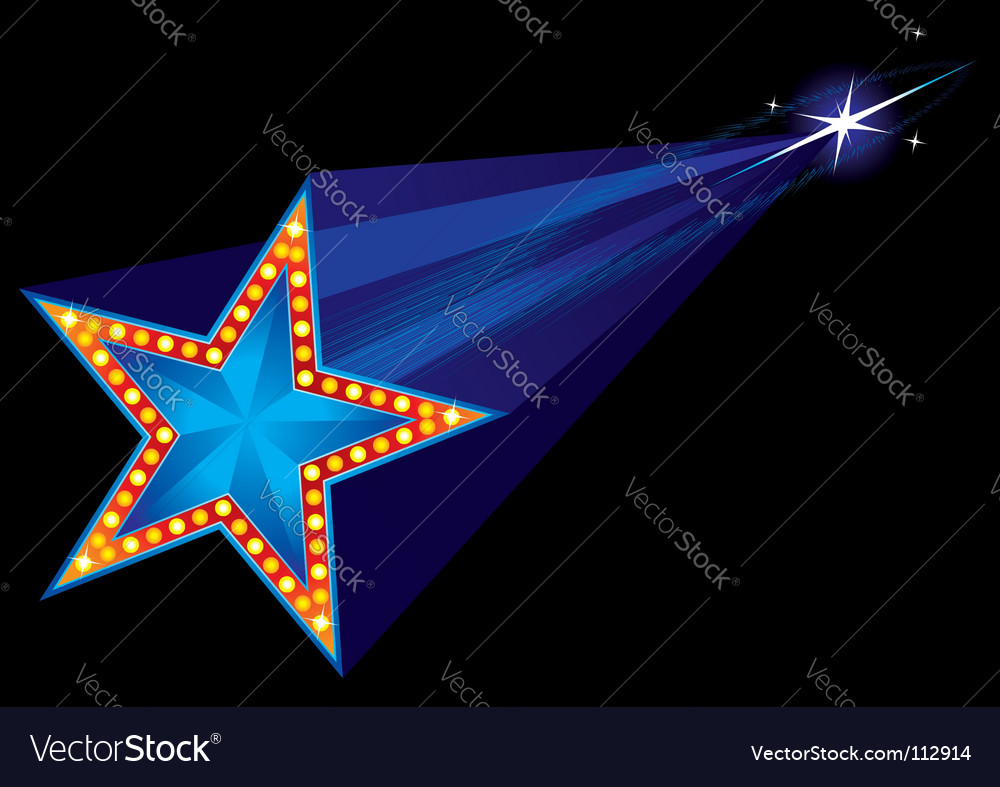 Coming star vector