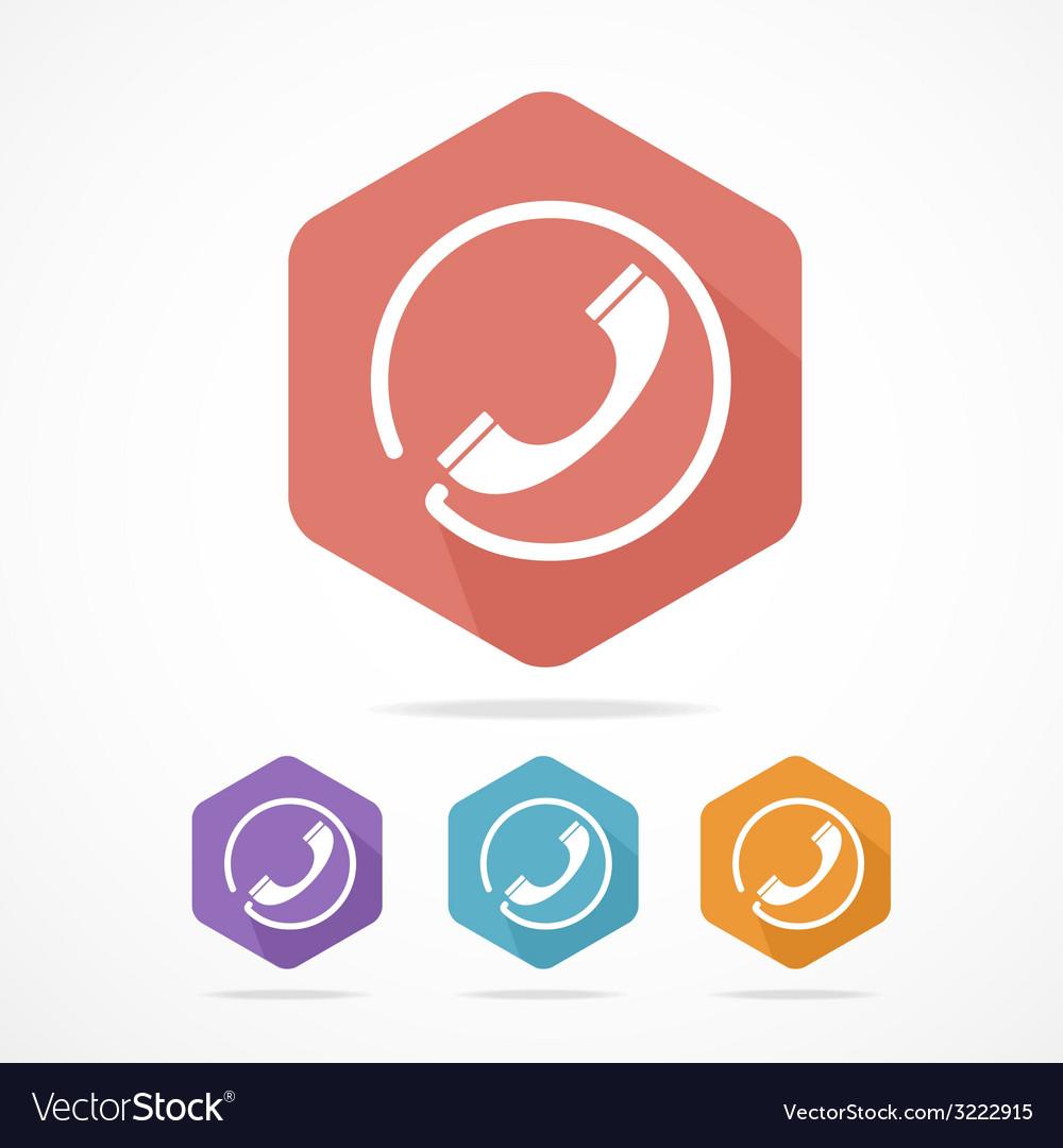 Phone tube flat icons set vector