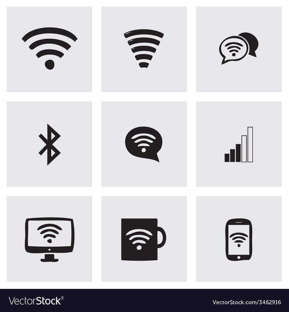 Wireless icons set vector