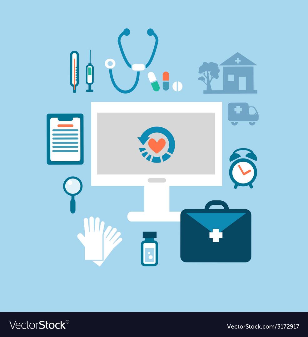 Desktop medic vector
