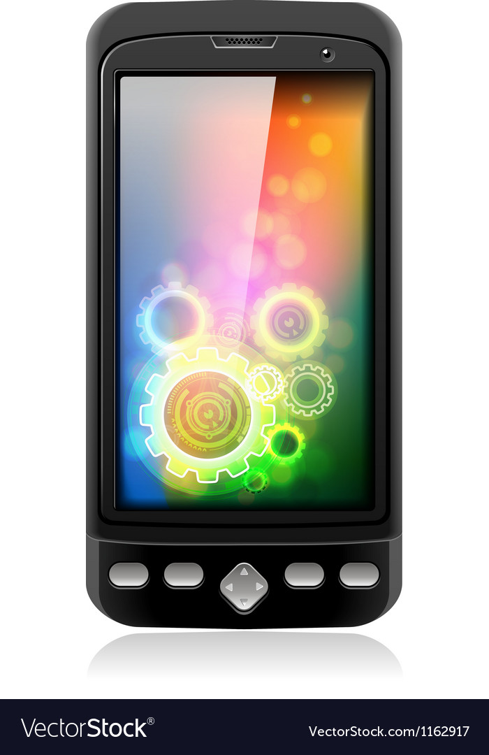 Mobile cell smart phone vector