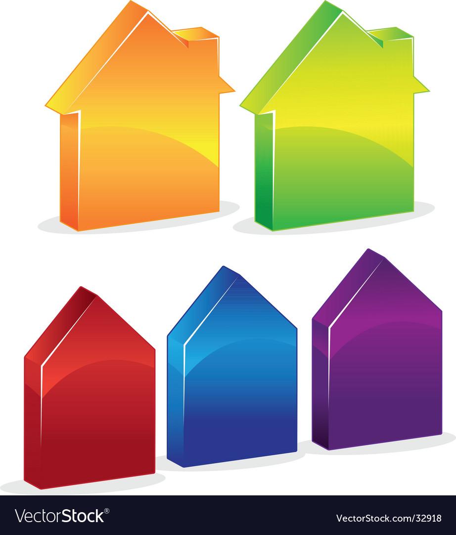 3d-houses vector