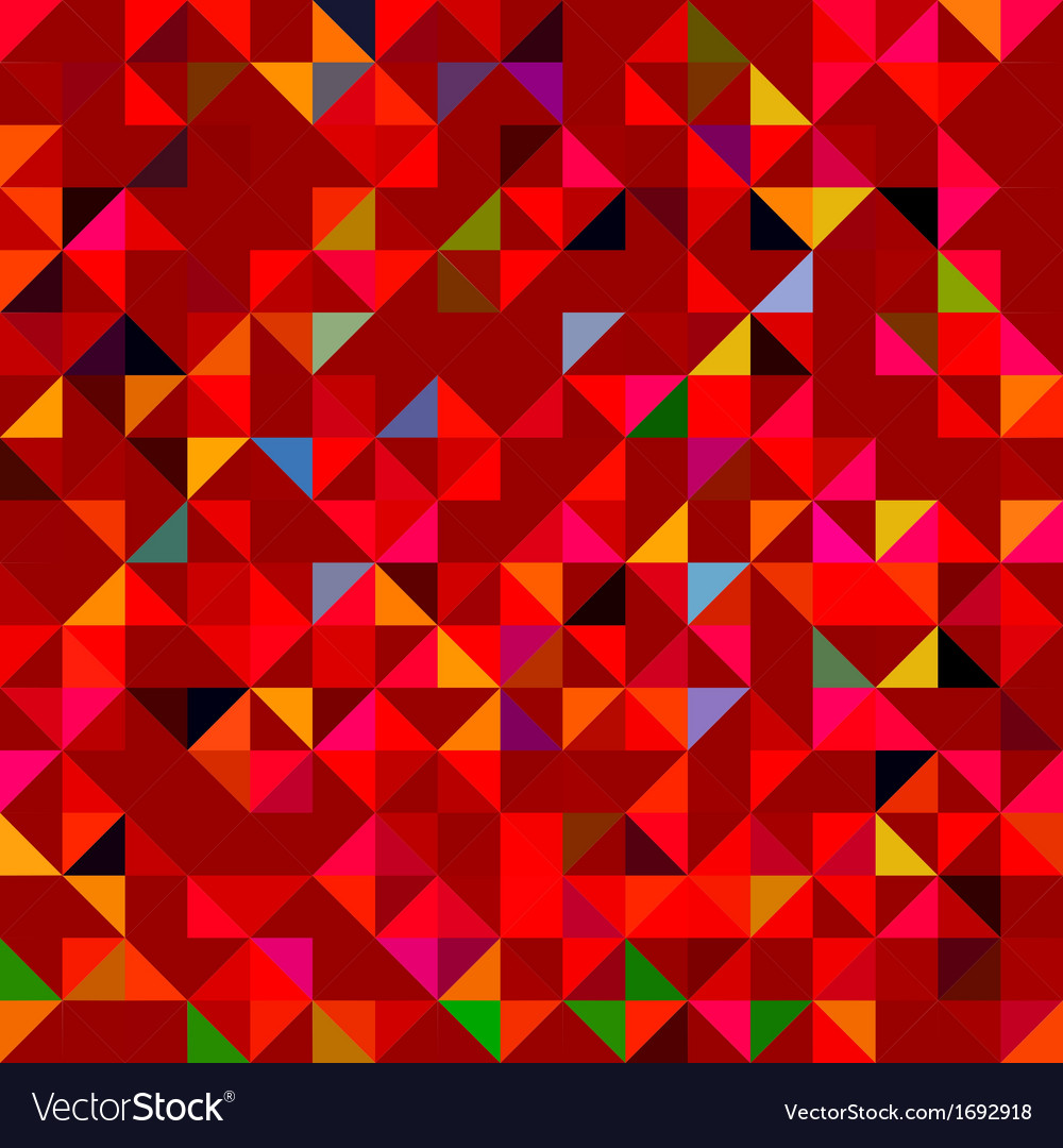 Abstract red geometric color background vector