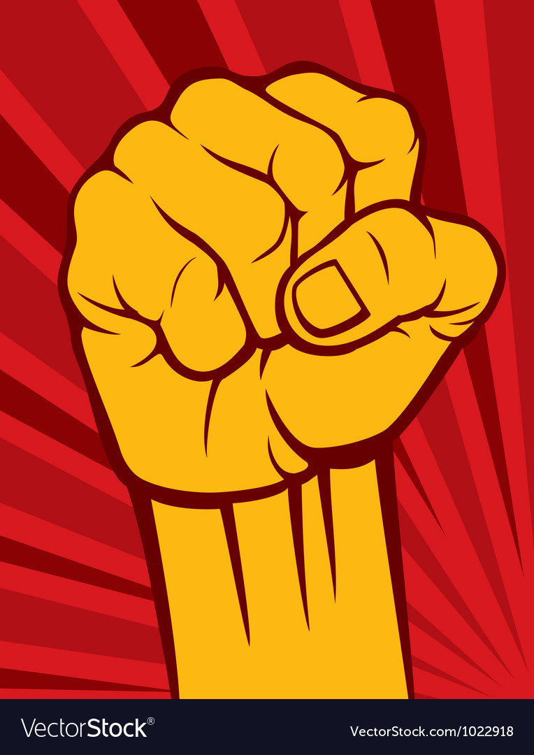Clenched fist poster vector