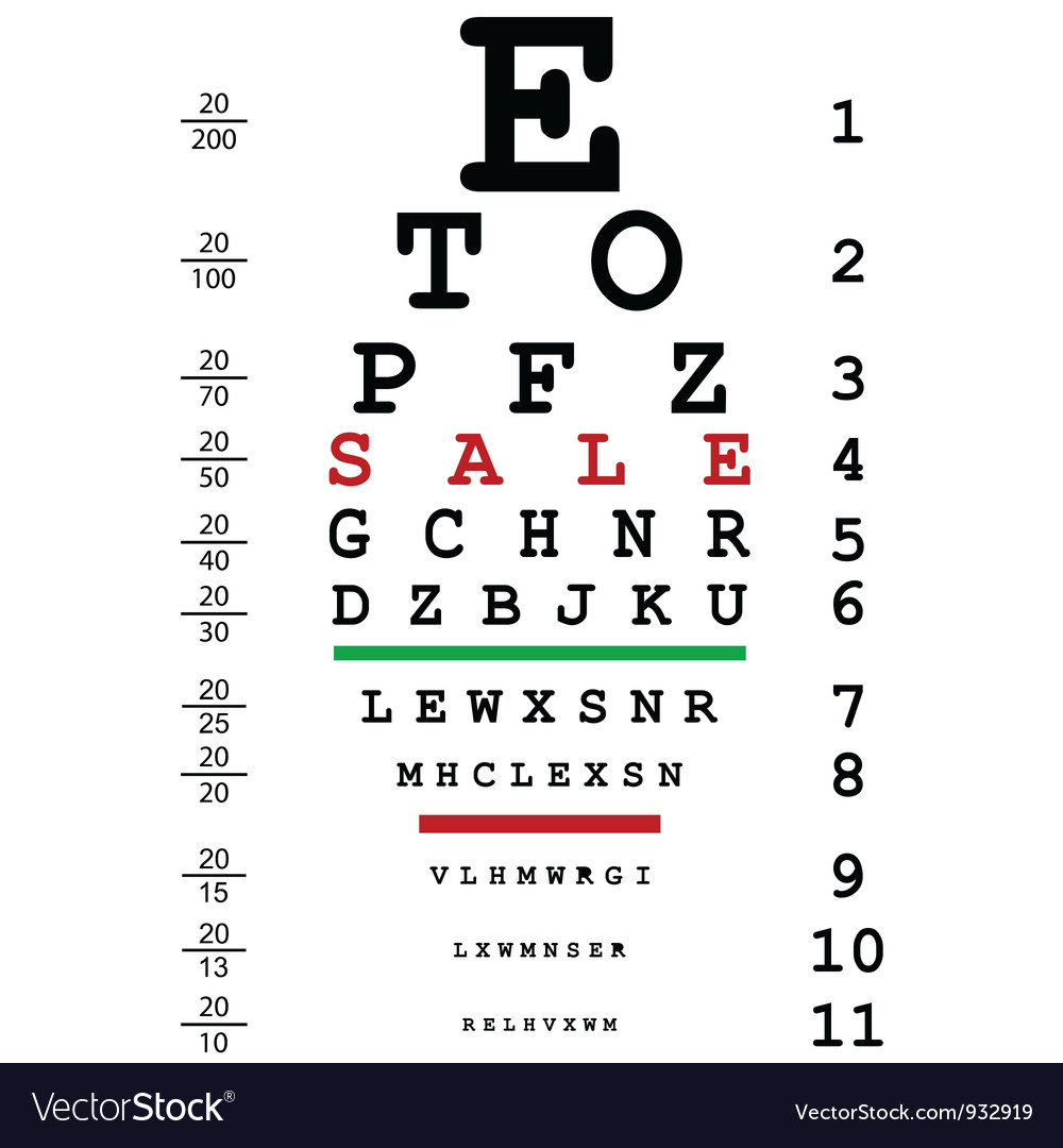 Optical test themed ad poster vector