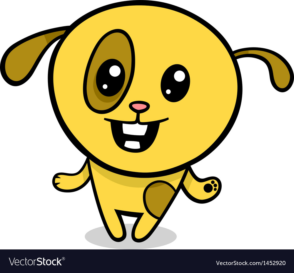 Cartoon kawaii puppy vector