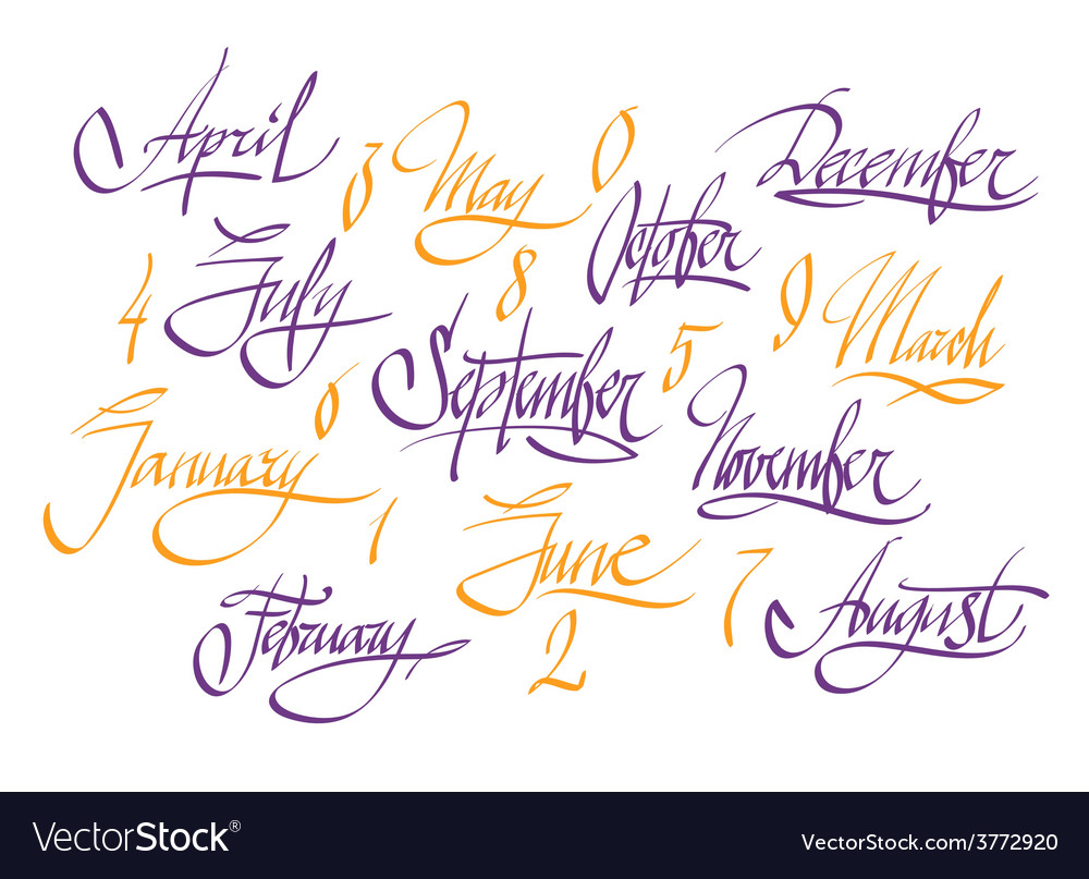 Title of months vector