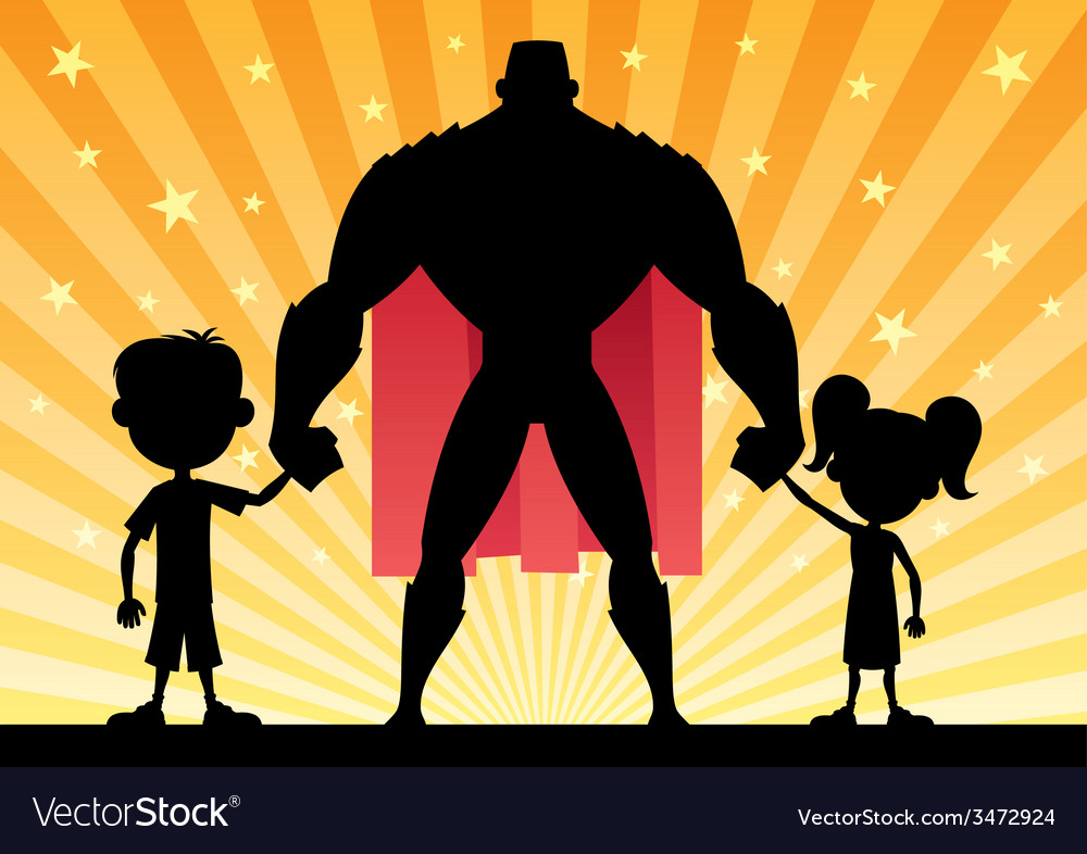 Super dad vector
