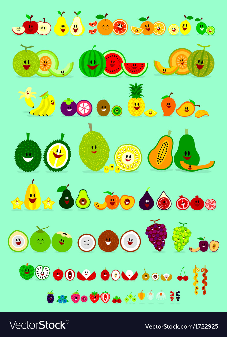 Smile fruits vector