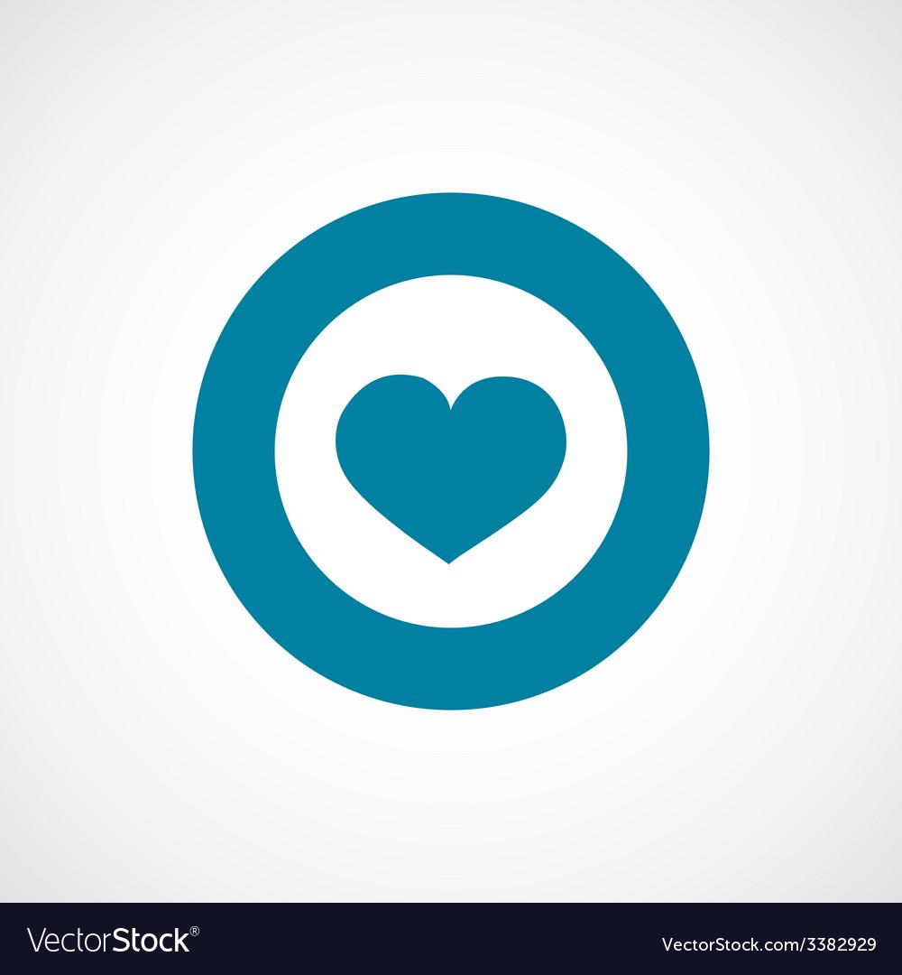 Heart bold blue border circle icon vector