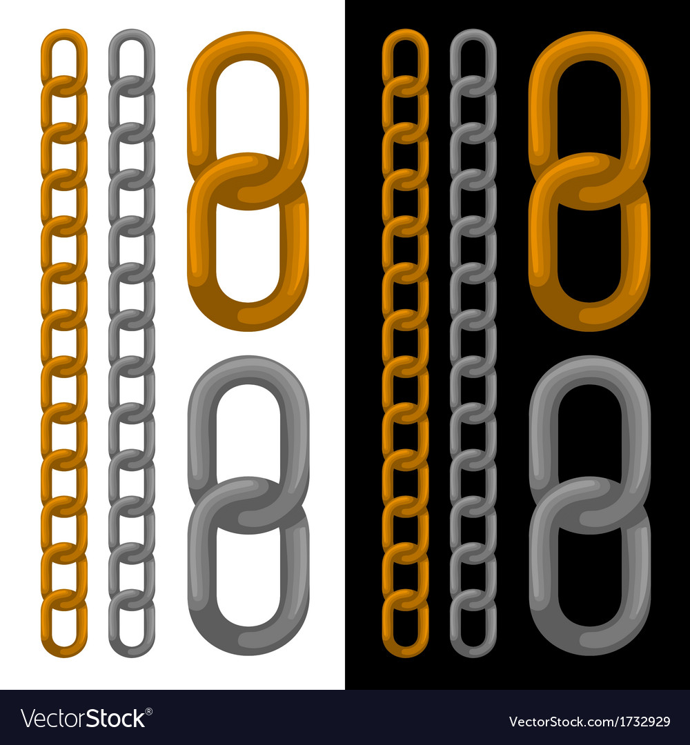 Seamless golden and silver chain vector